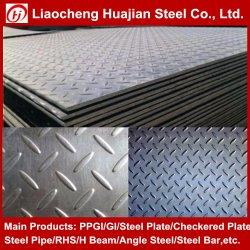 바닥 중고 미끄럼 방지 처리된 A36 Ss400 St37 Carbon MS Checker Checkered Chequered Mild Steel Plate