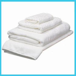 Tela/tovagliolo cucina del cotone/tovagliolo di piatto/tovagliolo di mano bianchi con merletto per il commercio all'ingrosso
