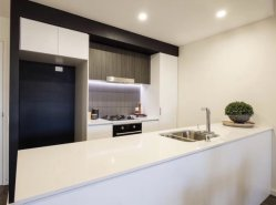 L'Australie laque blanc 2 armoires de cuisine modulaire PAC Menuiserie Projet Townhouse
