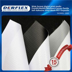 240g ПВХ-Flex баннер вальцы назад черного цвета Огнестойкий плакатный
