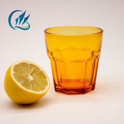 Low-Priced Wholesale Food Grade cuvette en verre jaune transparent