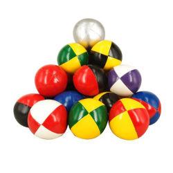 Günstige Preis PVC oder PU Synthetic Leather Custom Farbe und Logo Kunststoff Partikel Jonglierball