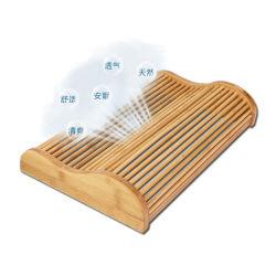 Cuscino decorativo di massaggio di natale di legno di bambù all'ingrosso del collo per dormire