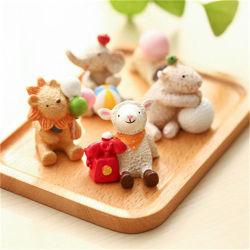 Figura animale domestica originale Figurines della bambola della decorazione dello scrittorio della decorazione della resina mini
