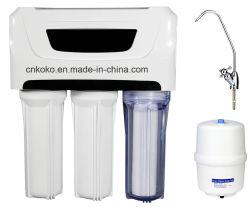 Het Drinken van Undersink van het huishouden het Directe 5 Systeem van het Water van het Water RO van de Osmose Revesre van het Stadium 50-100gallon Alkalische Minerale