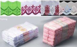 China T/C de encaje de algodón vestido de encaje bordado, accesorios