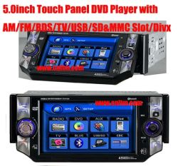 AM/FM/RDS/TV/USB/SD&MMC Slot/DIVX를 가진 5.0 인치 Car DVD Player