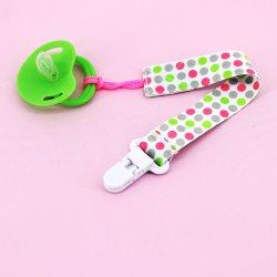 Clipes de chupeta bebê Suporte Universal de cor sólida leash para meninos e meninas brinquedos mordedores de dentição