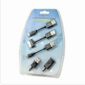 4 в 1 черный удлинительный кабель USB PRO для iPhone Nokia HTC Blackberry/etc