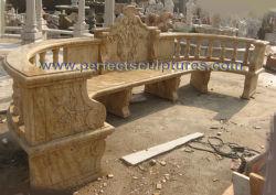 Pierre sculptée marbre chaise de jardin pour la décoration de jardin (QTC073)