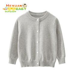 Bebê recém-nascido 100% algodão suéter macio Kids bebê nascido de malha simples Cardigan suéter