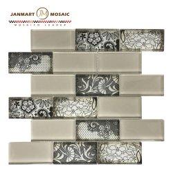Mosaicos de vidro/Crystal Mosaicos de vidro/Rodada Mosaico Mosaico de vidro para Piscina Tile 3D Mosaicos