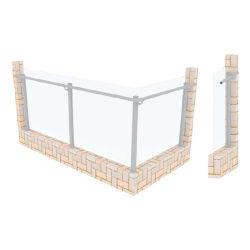 Novo design de vidro de alumínio balaustrada / Corrimões/Escadas para varanda
