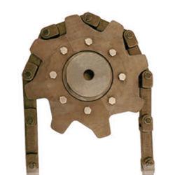L'alésage carré en acier inoxydable de blocage conique double soudure sur le lien d'entraînement de la chaîne de moyeu rond en acier fabriqué les roues de tension de la chaîne du pignon à roulement à billes