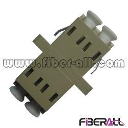 O plástico LC/PC mm Adaptador de fibra óptica duplex com dimensões reduzidas