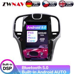 Tesla большой экран Android Аудиосистема DVD проигрыватель мультимедиа для Chrysler 300 c 2013-2019 PX6 стерео аудиоразъем Navi головное устройство с GPS