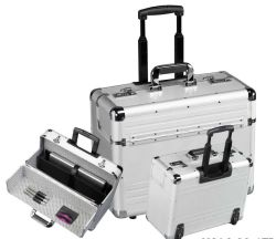 Hoogwaardige aluminium transportkoffer met speciale binnenband Voering