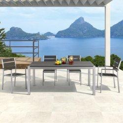 新しい到着の高品質の余暇の庭のガラス屋外のテラス表の一定の家具のためのアルミニウム藤椅子そして表