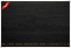 Europese Eiken Drie Lagen van de Gebouwde Houten Bevloering met Donkere Kleur, Houten Planken