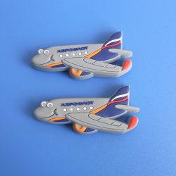 비행기 Shaped 3D Rubber Fridge Magnet