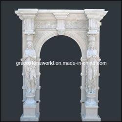 Châssis de porte de marbre sculpté à la main (GS-D-003)