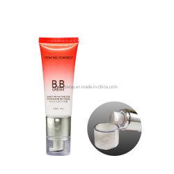 Chapado de 40g de la bomba Airless y texto de la impresión de gradiente bronceado Bb y Cc Tubo de crema