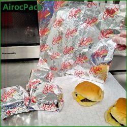 Strati della carta paraffinata del di alluminio per lo spostamento di alimento del formaggio dell'hamburger