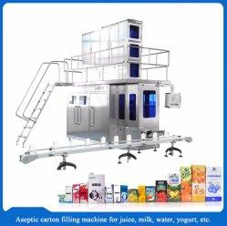 우유 광수 포도주 주황색 시럽 펄프 주스 무균 벽돌 판지 채우는 포장기 생산 라인