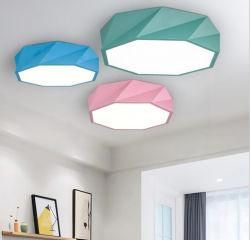Ferro forjado nórdicos poligonal Macarons-Color Log de cor da luz de teto