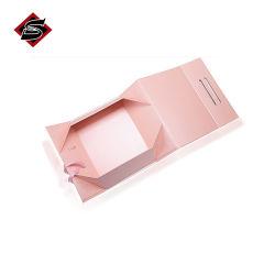 Pliante carton rigide de l'emballage cadeau De Luxe Boîte pliable avec ruban magnétique