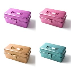 21803 Clear Art and Craft Organizer Portable Fadiable Organizer Storage صناديق مع صينيات