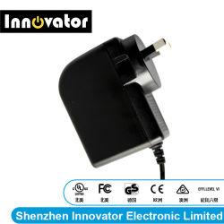Certified CC12V 24W Auk Enchufe adaptador de alimentación industrial
