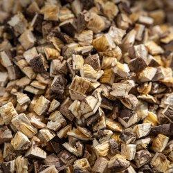 乾燥された粒状のきのこの椎茸のダイスの立方体