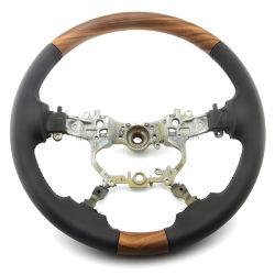 OE Дизайн автомобиля из алюминиевого сплава с деревянным рулевого колеса для Toyota Земли Cruiser Прадо Fj 150 2018 аксессуары