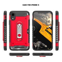 De zwarte Mobiele Bescherming van de Telefoon de Harde Shell Dekking van het Geval voor iPhone 9 Geval