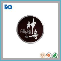 Forme ronde Logo personnalisé Bouteille de vin de la plaque métallique en aluminium