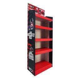 빨간 키 큰 형식 전시 종이상자 4개의 층 물결 모양 상자