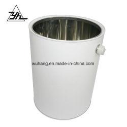 Venda a quente 5L branco de metal redonda balde de estanho/impressão de latas de tinta