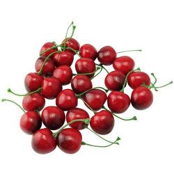 Pack de 25 artificiais simulação realista pequenas vermelho cereja preta frutos falsos modelos de casa em casa Cozinha Decoração Partido Horas Ornament frutos artificiais