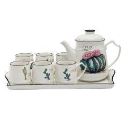 Bouilloire à froid en céramique Ensemble des ménages de boire du café de pot de café théière Définir la vaisselle en céramique