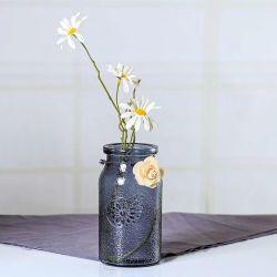 Nuevo diseño con girasoles en florero de vidrio