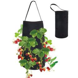 딸기 야채 플레이터 뿌리 식물 백 펠트 걸레기 백 정원 홀