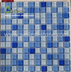 De populaire Tegel van het Mozaïek van het Glas van het Kristal Blauwe voor de Badkamers van het Zwembad