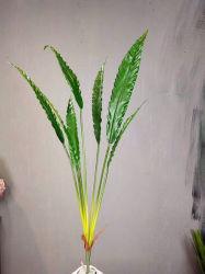 인공적인 잎 합성 잎 정원 훈장을%s 플라스틱 플랜트 잎 가짜 나무 잎