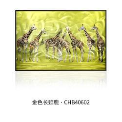 Pintura metálica em animais com 100% feitas à mão para decoração