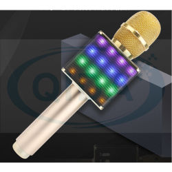 무선 휴대용 가라오케 마이크 H8(LED 조명 포함) SD 카드 슬롯