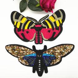 Butterfly Designs applique coudre sur la broderie perlée cordon Sequin des correctifs