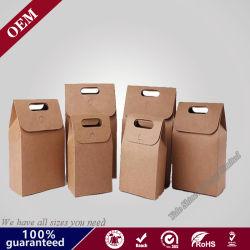 Fond plat chaud fait sur mesure de la vente à emporter Restauration rapide avec sac de papier kraft