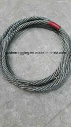 Imbracatura infinita galvanizzata della corda del filo di acciaio senza occhi o estremità