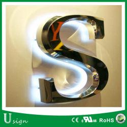 옥외 광고 3D LED 역광선 채널 편지